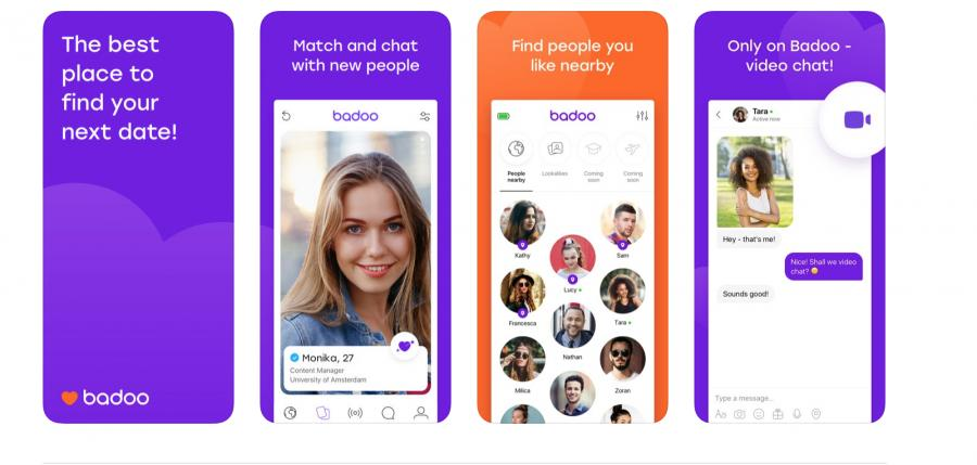 Screenshot of the Badoo app