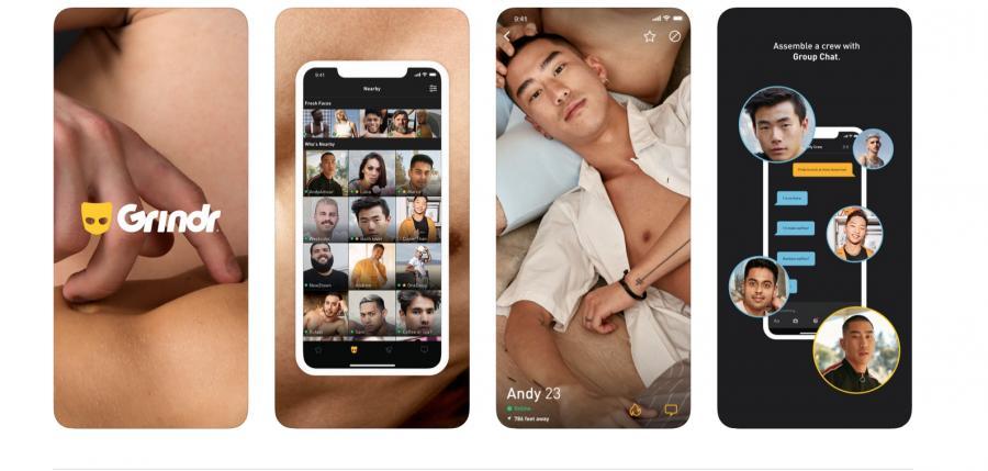 Screenshot of the Grindr app