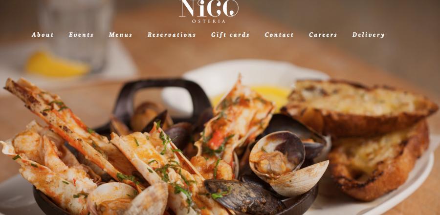 The Nico Osteria's website