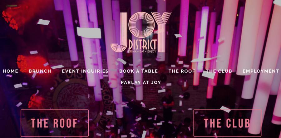 The Joy District Chicago's website