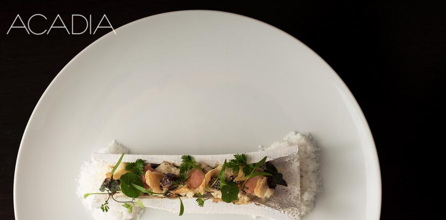 Plate of food at Acadia