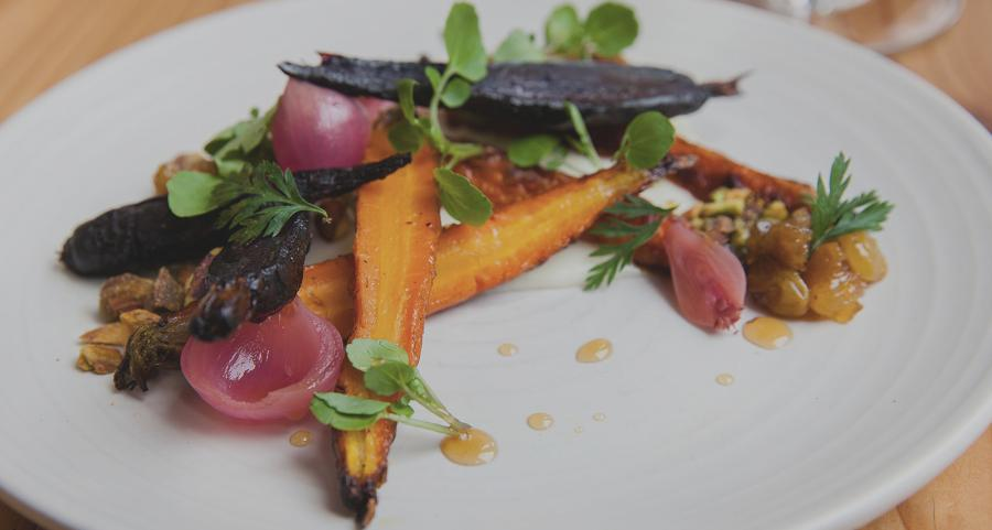Delicious plate of vegetable at The Bristol