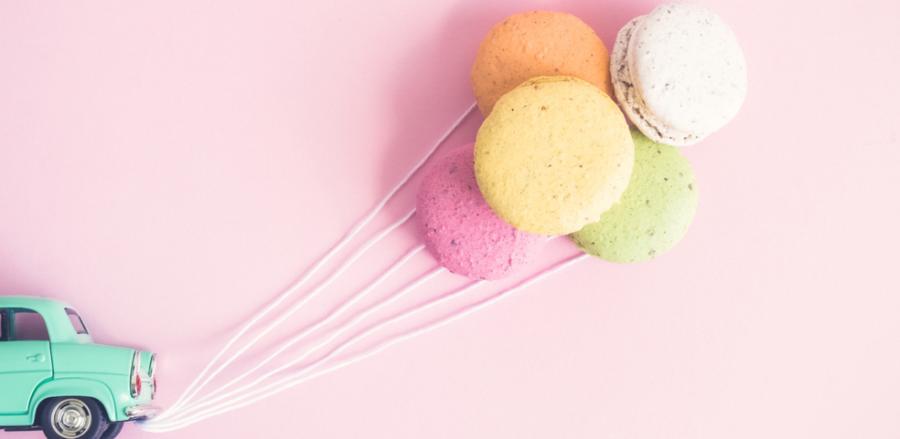 Screenshot of macarons from Sweet Spot Macarons' website