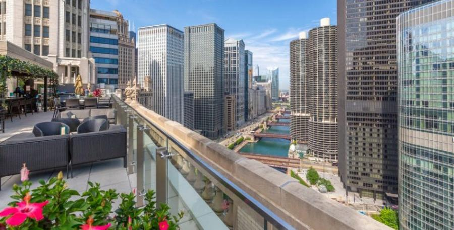 View from a Chicago rooftop