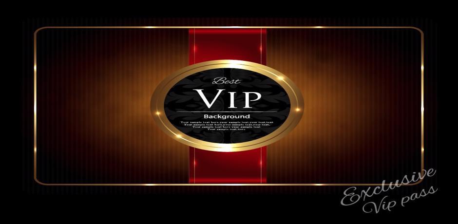 A VIP casino club card