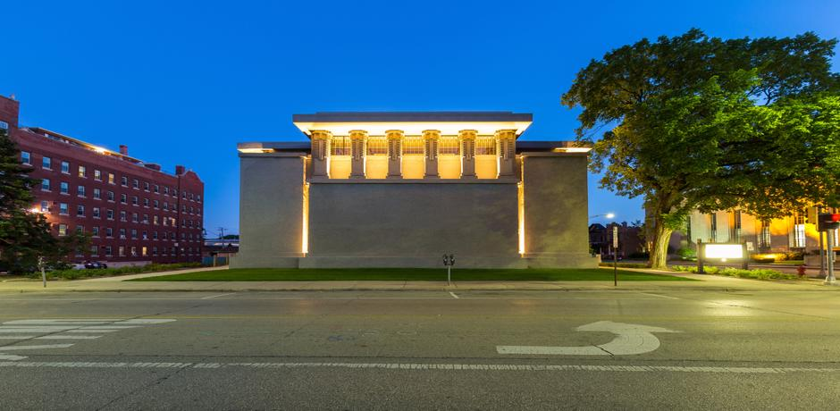 The Unity Temple in Chicago