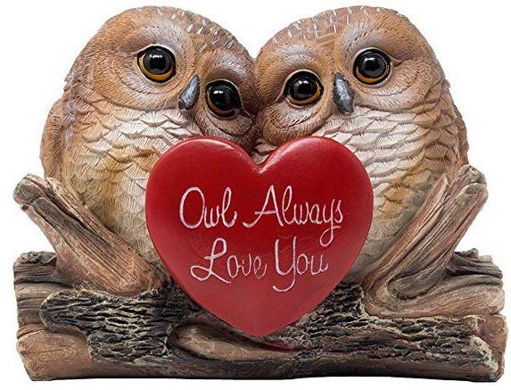Romantic Owl Always Love You Figurine