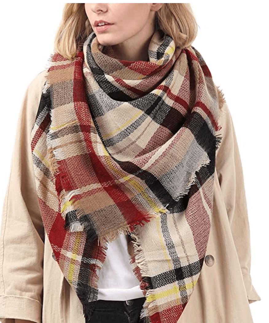 Warm Winter Fall Blanket Scarf