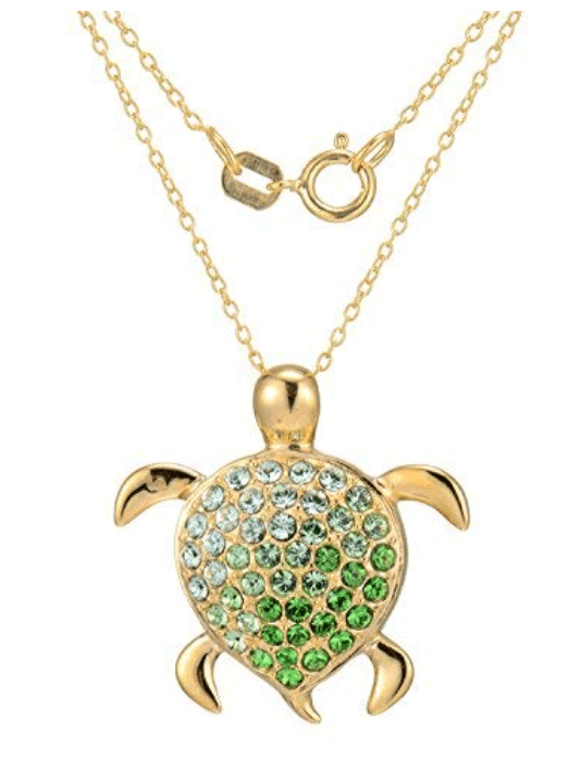 Silver Turtle Family Necklace