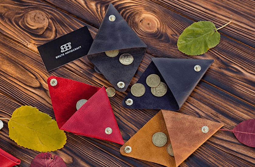 Personalized Leather Change Purse
