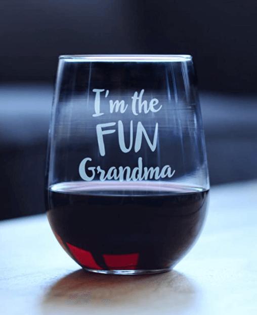 Bevvee Fun Grandma Wine Glass