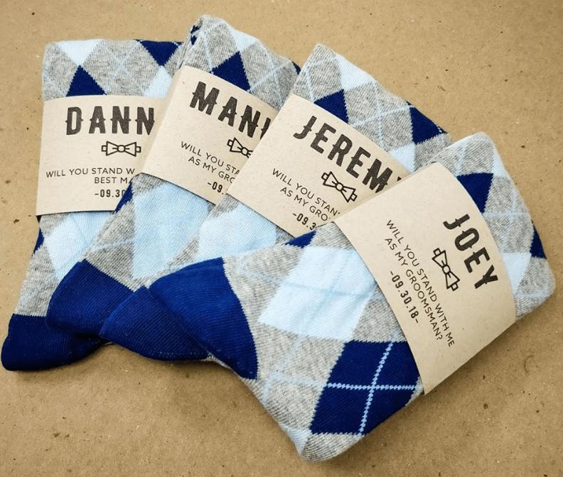 No Cold Feet Groomsman Socks