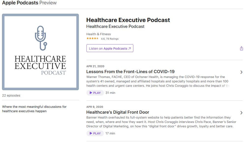 The Healthcare Executive Podcast
