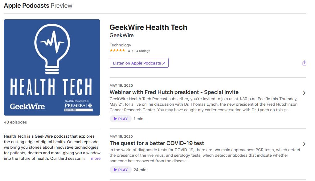 GeekWire Health Tech
