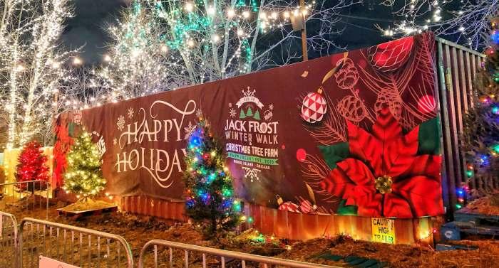 Jack Frost Winter Village Chicago sign on premise