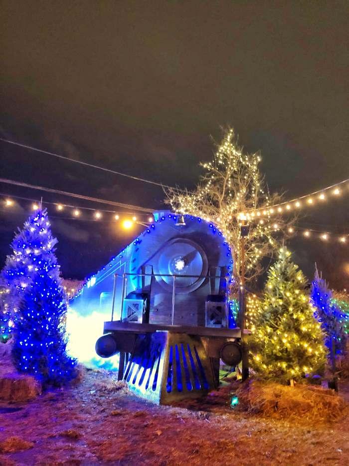 Jack Frost Winter Village Chicago Polar Train