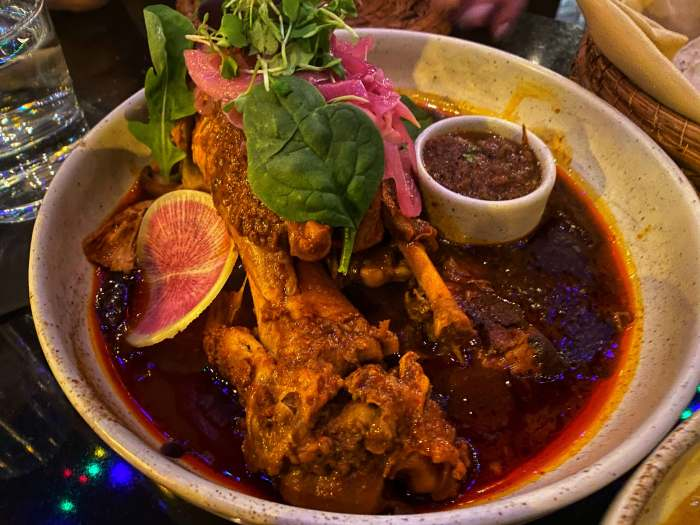 Cochinita Pibil, the chef's famous pork shank Tzuco Restaurant Chicago dish what to eat