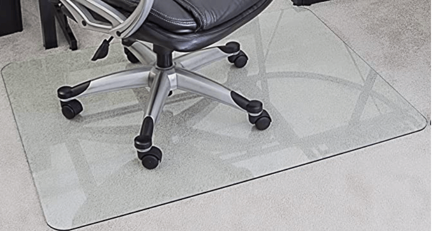 MyGlassMat Tempered Glass Chairmat