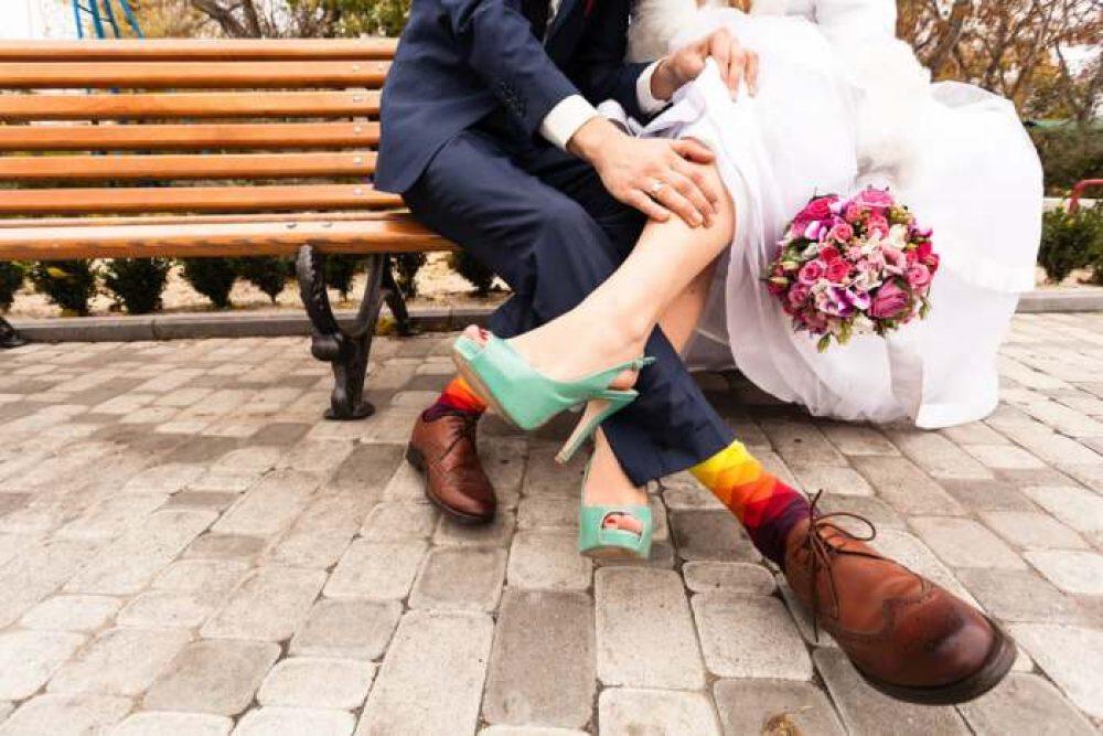 TeeHee Wedding Cotton Crew Socks