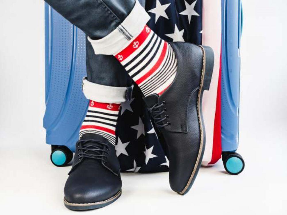 BONANGEL American Flag Fun Dress Socks for Men