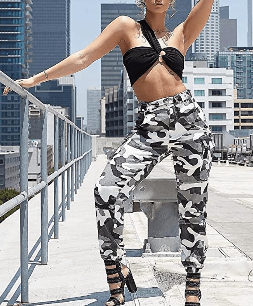 Camo Cargo Pants for Women [Voghtic]